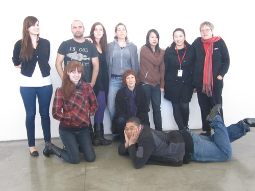 Students at CCA in San Francisco after a class on ethics that I taught a few years ago